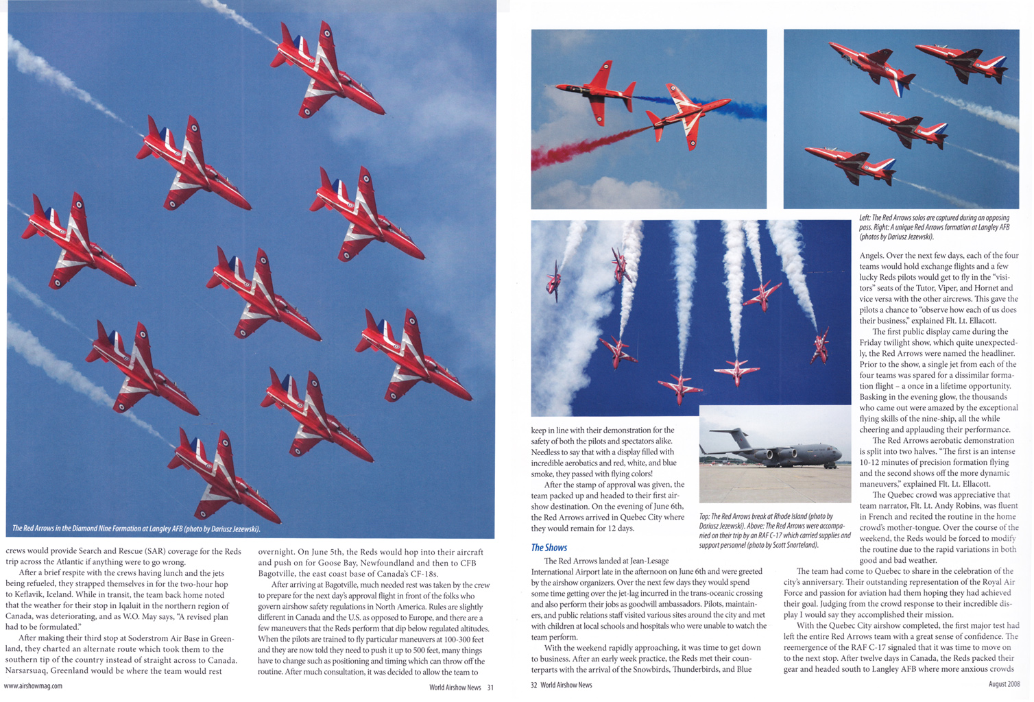 World Airshow News 08-08B.jpg - World Airshow News Red Arrows article pictures